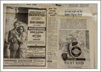 Vintage James Bond Newspaper Advertisement - No-Wrap