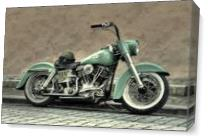 Harley Davidson Classic As Canvas