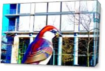 A Still Picture Of A Bird Statue As Canvas