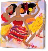 Happy Dance As Canvas