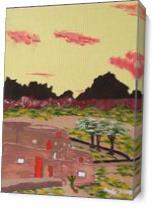 New Mexico Adobe Home As Canvas