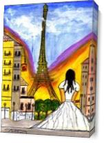 View Of The Eiffel As Canvas
