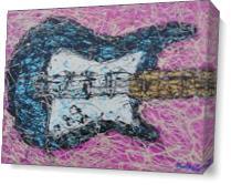 Drip Paint Guitar As Canvas