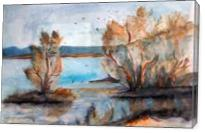 Blossoms At River - Gallery Wrap