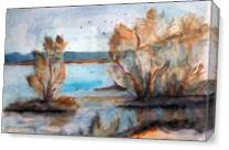 Blossoms At River - Gallery Wrap Plus