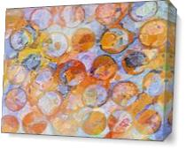 Multicolor Eroded Circle Abstract As Canvas
