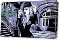 Chic Lady Purple Comic As Canvas