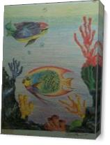 Fish Duet Design As Canvas