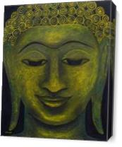 Happy Buddha As Canvas