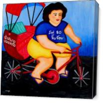 Taxi Lady As Canvas