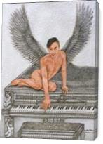 Angel And The Piano - Gallery Wrap