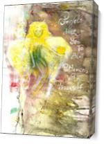 Angels Help You To Have Patience With Yourself, INSPIRATIONAL Art, Original Acrylic Painting, Illustration Of Guardian Angel Quote As Canvas
