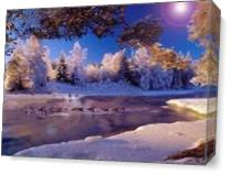 Winter Glory As Canvas
