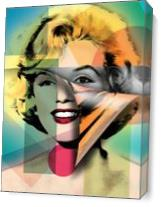Marilyn Monroe As Canvas