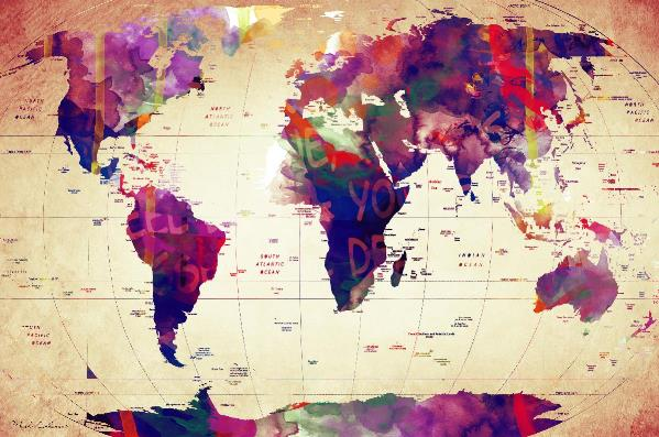 Map_of_the World Vintage