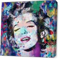 Marilyn_Monroe Blue As Canvas