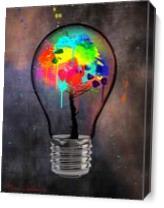 Light Bulb Tree As Canvas