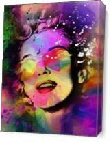 Marilyn Monroe Fun As Canvas