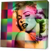 Marilyn Monroe As Canvas