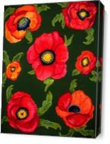 Fiery Poppies As Canvas