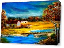 Small Cottage As Canvas