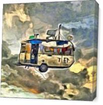 Flying Caravan As Canvas