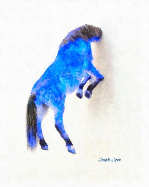 Walled Blue Horse