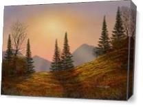 Alpine Sunset As Canvas