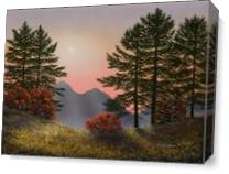 Alpine View As Canvas