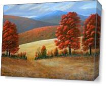 Autumn S Glory As Canvas