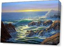 Coastal Evening As Canvas
