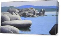 Rocky Cove On Lake Tahoe  As Canvas