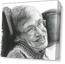 """A Timeless Smile """"Stephen Hawking"""" As Canvas"""