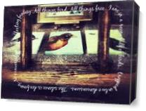 All Things Bird I As Canvas