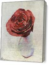 Rose With Texture I As Canvas