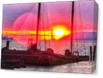Red Baron At Sunset II As Canvas
