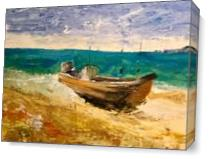 Boat III As Canvas