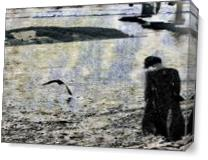 Woman And Bird As Canvas