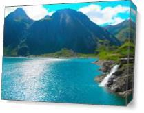 Mountain  Lake As Canvas