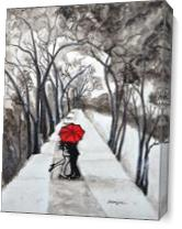 Snow Kiss Romantic Painting