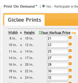 Print On Demand Markup